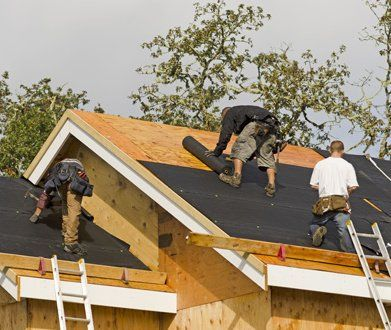 Team Of Professionals Providing Roofing Services