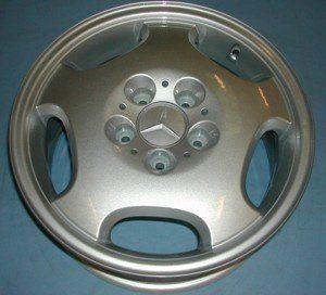 After image of refurbished Mercedes alloy wheel