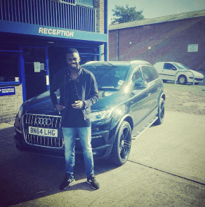 Hope Akpan's Audi Q7 with refurbished alloy wheels