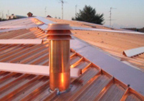 Copertura di metallo di un tetto
