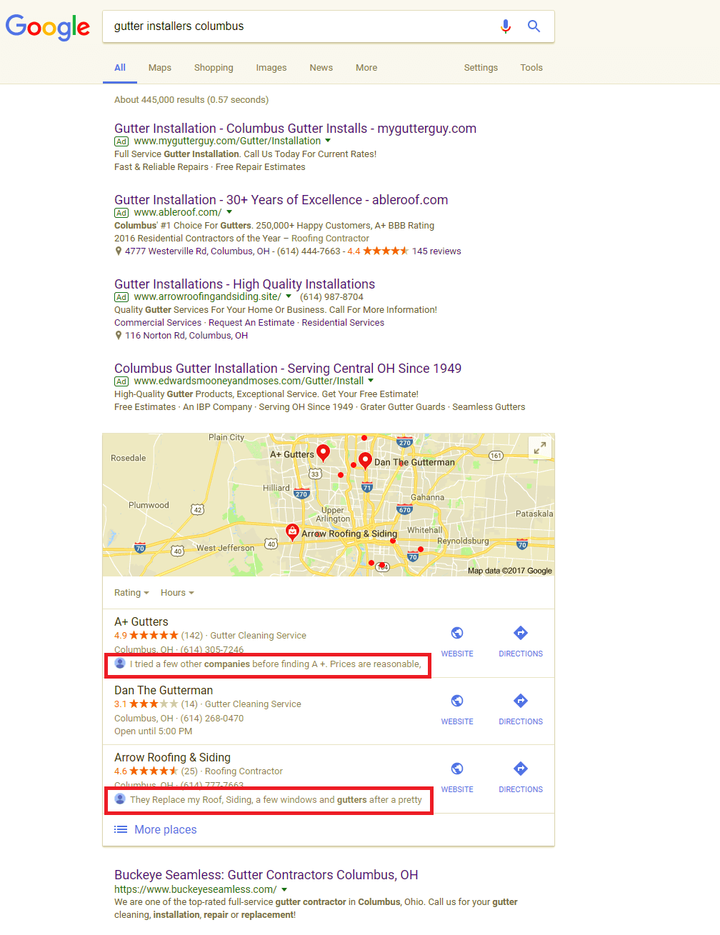 Google Adding Review Previews to Local Pack