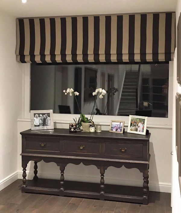 black and cream striped curtains