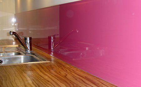 pink splashback