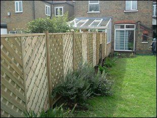 A newly installed, modern fencing system in London