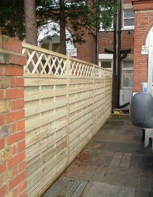 Traditional fencing with concrete posts in Surrey