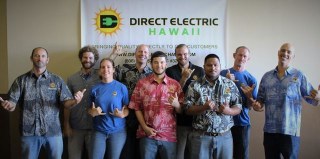 Direct Electric Hawaii staff