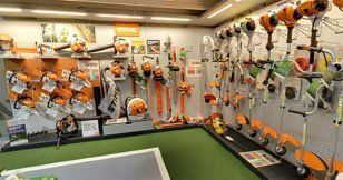 A range of our Stihl products in our showroom