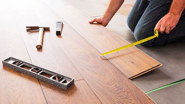 Installing new laminated wooden floor