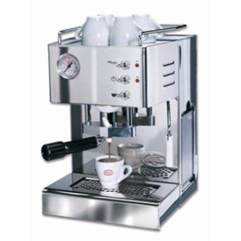 una macchinetta del caffè in acciaio