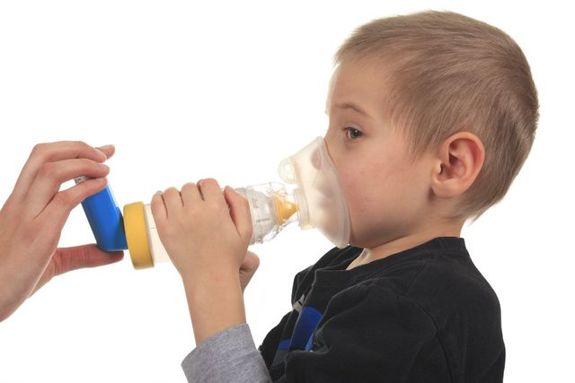 A child with an oxygen mask