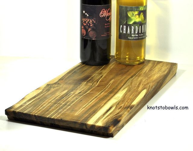 Wooden Serving Tray - Striped Maple
