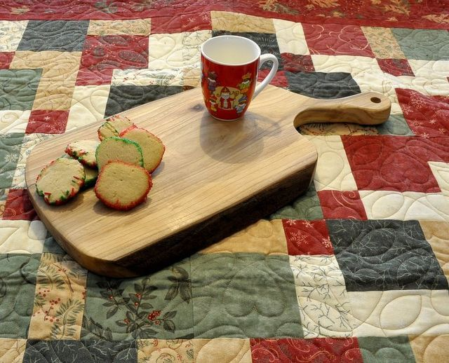 Christmas cookies on snack board