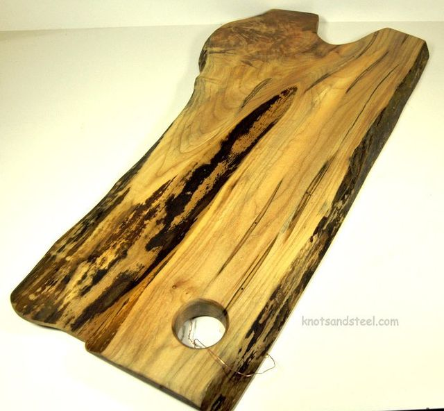 Wood live edge serving board made with Maple
