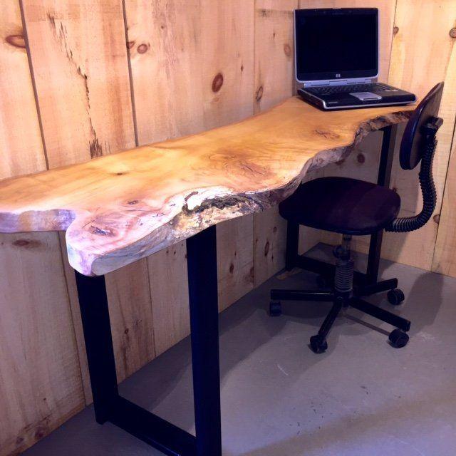 Live edge Maple wood desk