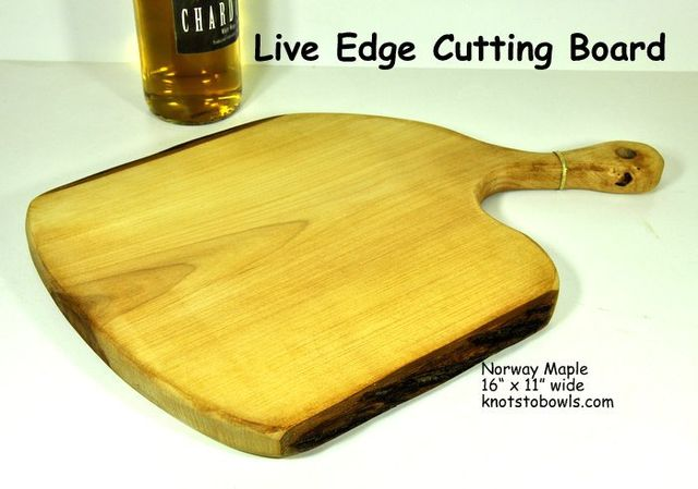 Norway Maple live edge cutting board