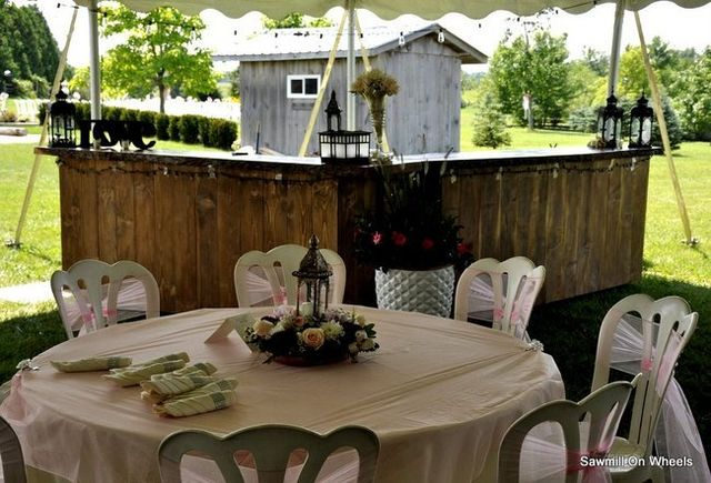 Wedding bar under the tent - outdoors in Guelph.