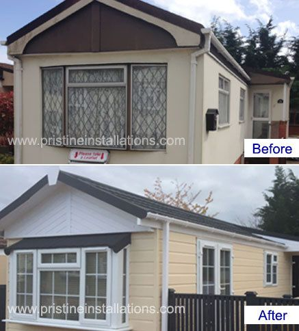 Park Home Renovations Extensions Before And After Work Cladding