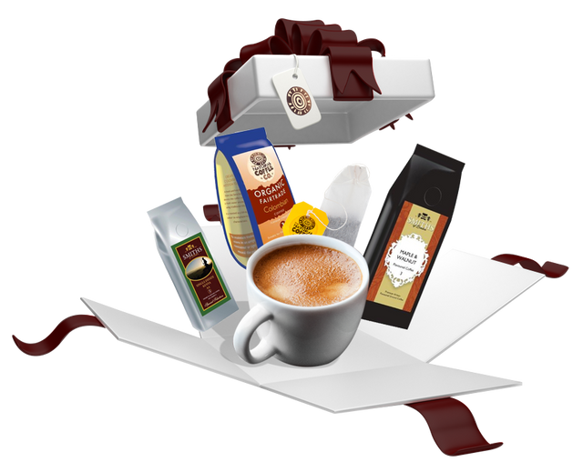 image of a Smith Coffee Co package full of goods