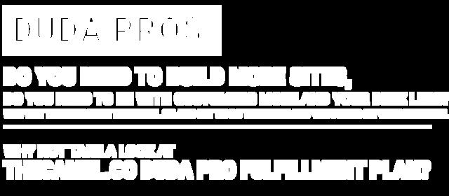 Interesting new Camel Banner for Duda Pro Fullfillment Plans