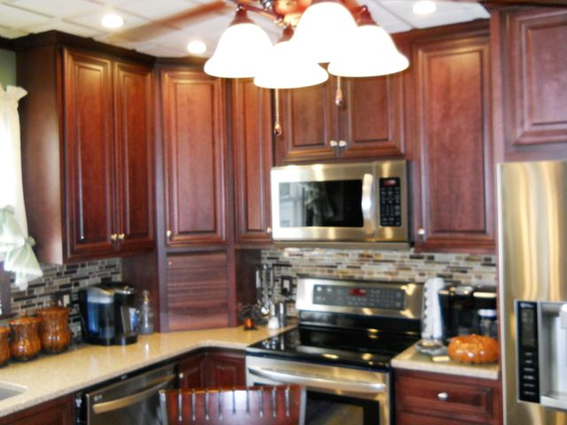 Customized countertops placed in the kitchen in Lewisburg, PA