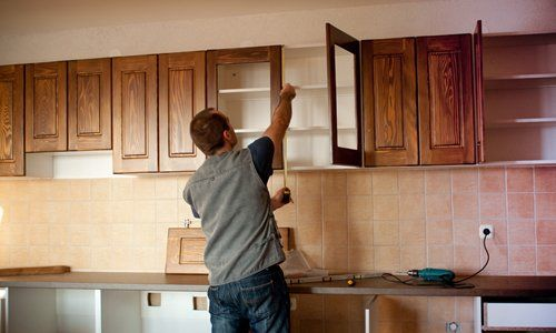 Expert building customized cupboards in a kitchen in Lewisburg, PA