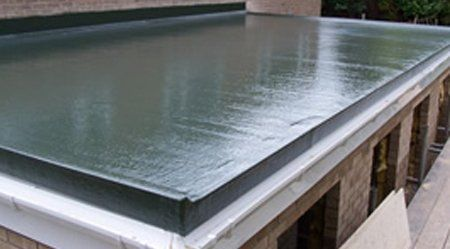 Fibreglass roofing installations