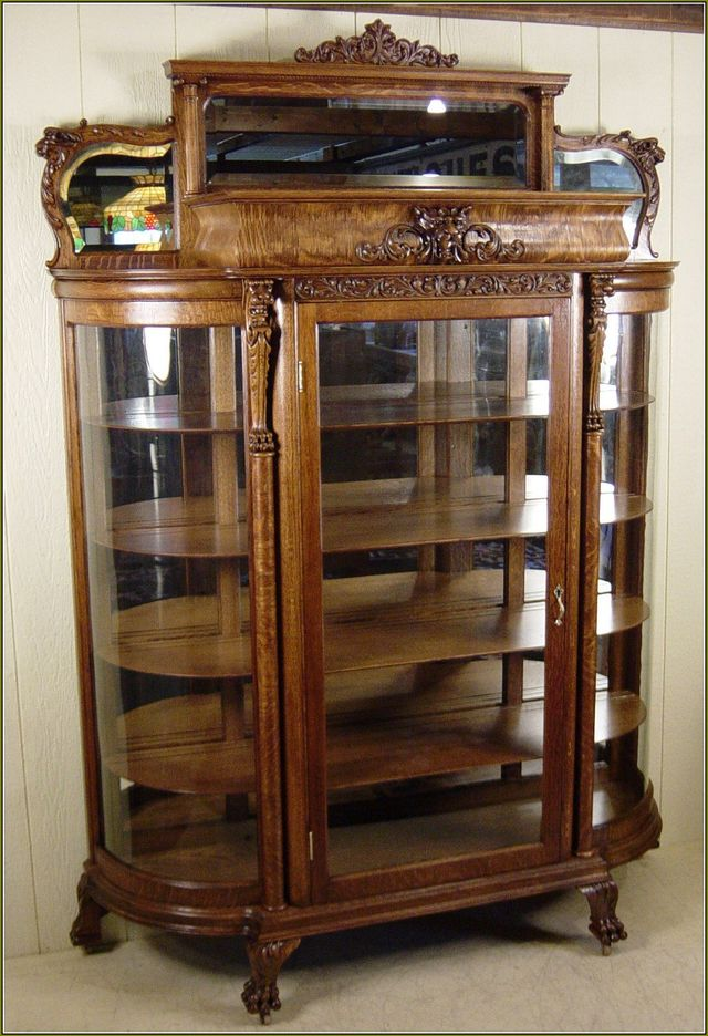 Curved Glass China Cabinet Glass Replacement