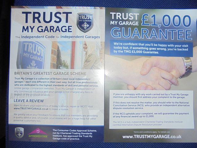 TRUST MY GARAGE brochure
