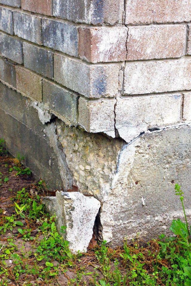 Worker posting waterproofing cement