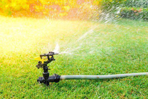 View of sprinkler system