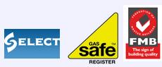 Building service - Aberdeen, Aberdeenshire - Burns Construction (Aberdeen) Ltd - Select, Gas safe, FMB logo