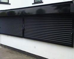 galvanised steel shutter