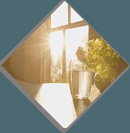 sunlight entering the window