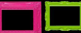 cornici rosa e verde