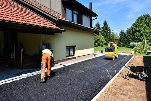 Asphalting of the pathway s in progress