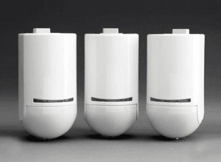 Three white alarm points