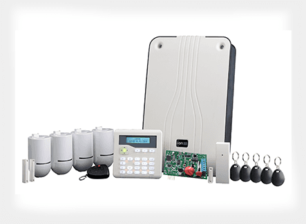 Security alarm system fobs and accessories