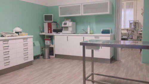 Interno della sala operatoria della clinica veterinaria