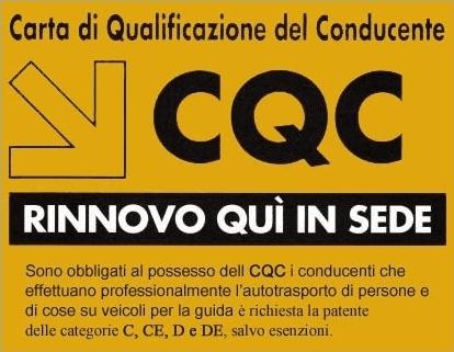 pubblicità di Carta di Qualificazione del Conducente