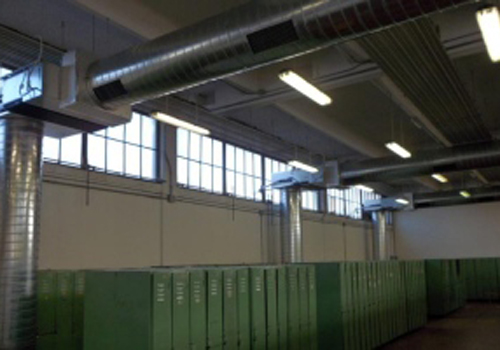 impianto di climatizzazione palestra