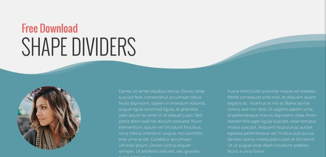 Shape Dividers - Free Download Pack and Tutorial - Without Code