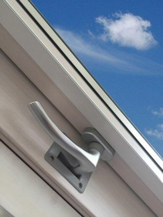 handle in closed window position
