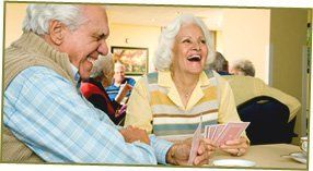 Care home activities - Hanbury - Far Fillimore Rest Home - elders are playing