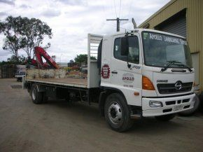 apollo landscaping crane truck