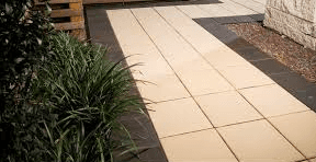 paved garden space