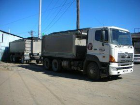 truck and dog up to 40 cubic metres capacity