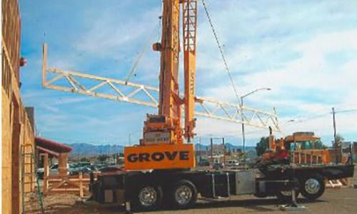 View of the rented crane working on the project site in Bullhead City, AZ
