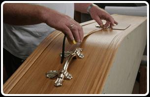 Craftsman working on a coffin