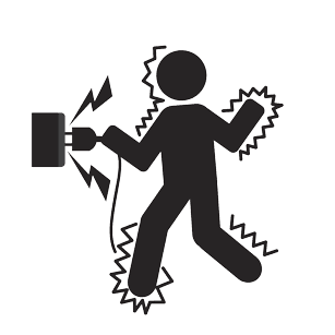 Graphic Symbol Of A Man Get An Electric Shock