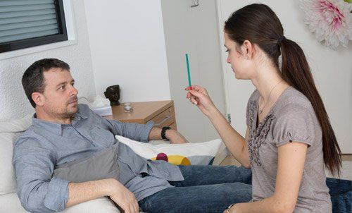 Hypnotherapy session of a young individual